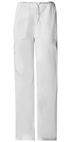 Cherokee Workwear WW Premium Unisex Unisex Drawstring Cargo Pant White