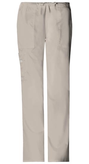 Cherokee Workwear WW Premium Women's Mid Rise Drawstring Cargo Pant Khaki