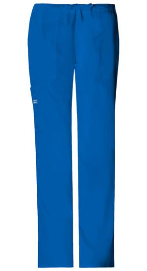 Cherokee Workwear WW Premium Women's Mid Rise Drawstring Cargo Pant Blue