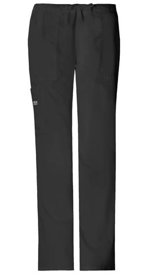 Cherokee Workwear WW Premium Women's Mid Rise Drawstring Cargo Pant Black