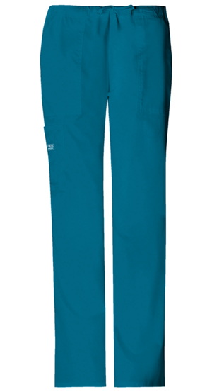 WW Premium Women's Mid-Rise Drawstring Cargo Pant Blue