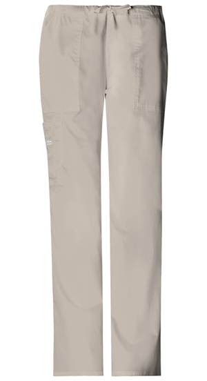 WW Premium Women's Mid-Rise Drawstring Cargo Pant Khaki