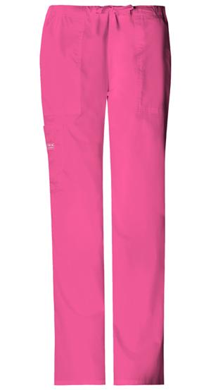 Cherokee Workwear WW Premium Women's Mid-Rise Drawstring Cargo Pant Pink