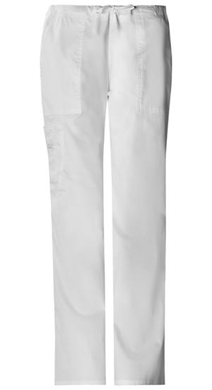 WW Premium Women's Mid-Rise Drawstring Cargo Pant White