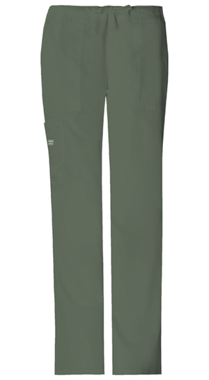 Cherokee Workwear Mid Rise Drawstring Cargo Pant Olive (4044-OLVW)