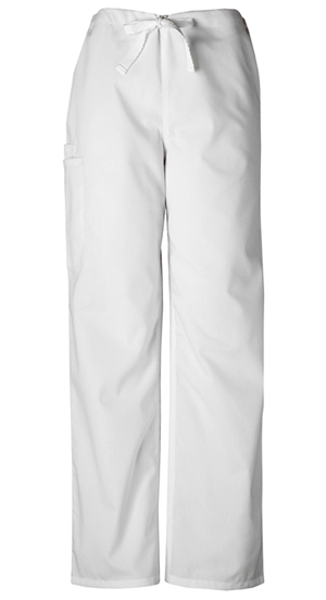 Cherokee Workwear WW Originals Unisex Unisex Drawstring Cargo Pant White
