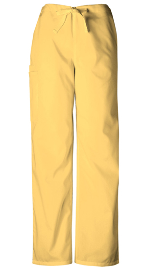 Cherokee Workwear WW Originals Unisex Unisex Drawstring Cargo Pant Yellow