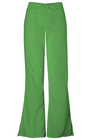 WW Originals Women's Natural Rise Flare Leg Drawstring Pant Green