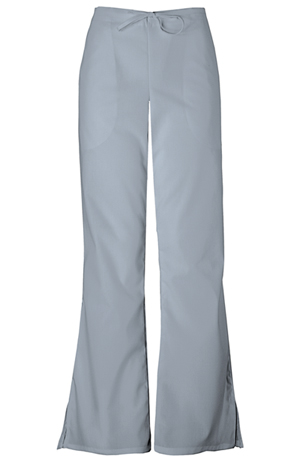 Cherokee Workwear WW Originals Women's Natural Rise Flare Leg Drawstring Pant Grey