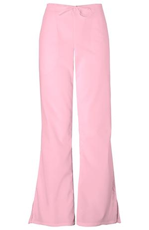 WW Originals Women's Natural Rise Flare Leg Drawstring Pant Pink