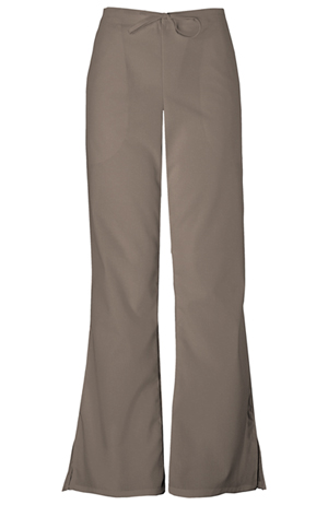 Cherokee Workwear WW Originals Women's Natural Rise Flare Leg Drawstring Pant Neutral