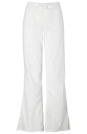 WW Originals Women's Natural Rise Flare Leg Drawstring Pant White