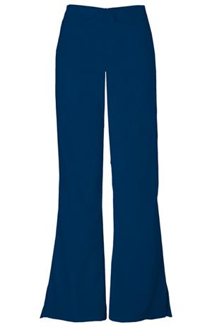 Cherokee Workwear WW Originals Women's Natural Rise Flare Leg Drawstring Pant Blue
