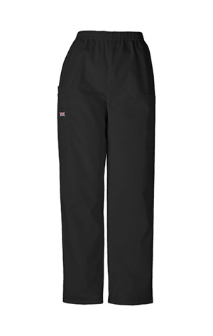 Cherokee Workwear WW Originals Women's Natural Rise Tapered LPull-On Cargo Pant Black