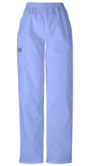 Cherokee Workwear WW Originals Women's Natural Rise Tapered LPull-On Cargo Pant Blue