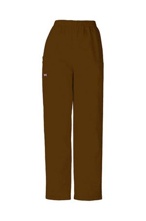 Cherokee Workwear WW Originals Women's Natural Rise Tapered LPull-On Cargo Pant Brown