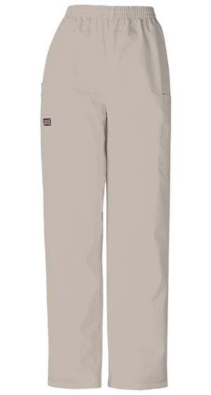 Cherokee Workwear WW Originals Women's Natural Rise Tapered LPull-On Cargo Pant Khaki