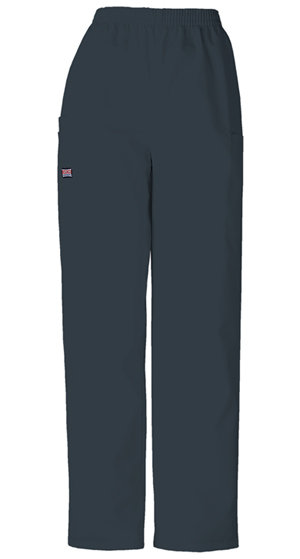 Cherokee Workwear WW Originals Women's Natural Rise Tapered LPull-On Cargo Pant Grey