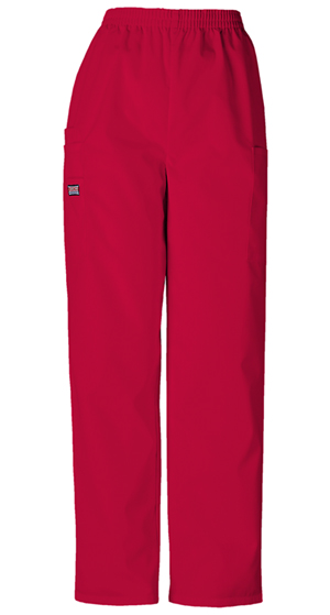 Cherokee Workwear WW Originals Women's Natural Rise Tapered LPull-On Cargo Pant Red