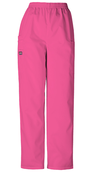 Cherokee Workwear WW Originals Women's Natural Rise Tapered LPull-On Cargo Pant Pink