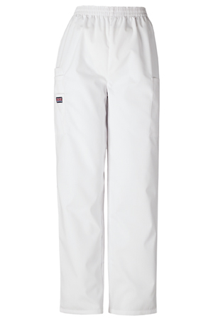 WW Originals Women's Natural Rise Tapered LPull-On Cargo Pant White
