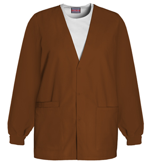 WW Originals Women's Cardigan Warm-Up Jacket Brown