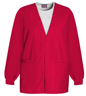 WW Originals Women's Cardigan Warm-Up Jacket Red
