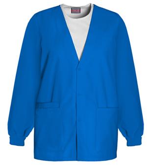 Cherokee Workwear WW Originals Women's Cardigan Warm-Up Jacket Blue