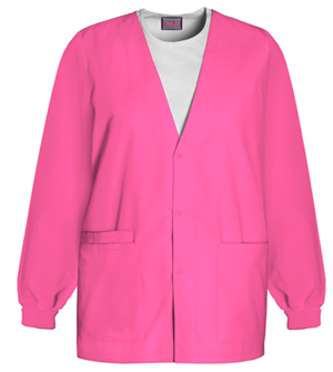 Cherokee Workwear WW Originals Women's Cardigan Warm-Up Jacket Pink