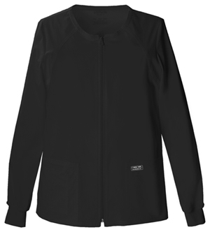 Cherokee Workwear WW Premium Women's Zip Front Warm-Up Jacket Black