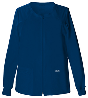 Cherokee Workwear WW Premium Women's Zip Front Warm-Up Jacket Blue