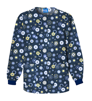 Scrub HQ Snap Front Warm-Up Jacket Dot's Wonderful (4350C-DWON)