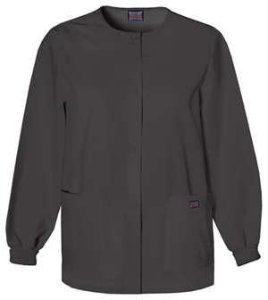 WW Originals Women's Snap Front Warm-Up Jacket Black