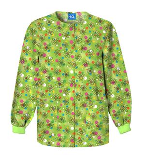 Scrub HQ Cherokee Prints Women's Snap Front Warm-Up Jacket Boba