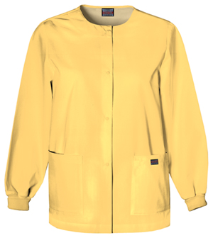 Cherokee Workwear WW Originals Women's Snap Front Warm-Up Jacket Yellow