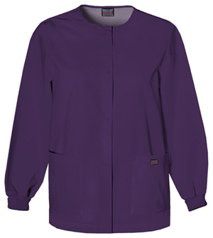 WW Originals Women's Snap Front Warm-Up Jacket Purple