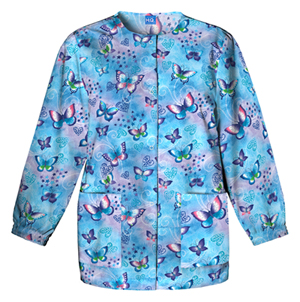 Scrub HQ Cherokee Prints Women's Snap Front Warm-Up Jacket Fly By Night