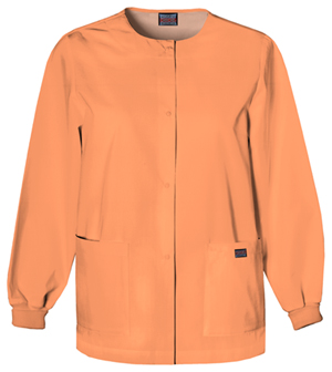 Cherokee Workwear WW Originals Women's Snap Front Warm-Up Jacket Orange