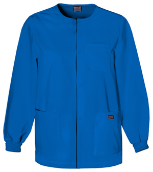 Cherokee Workwear WW Originals Men's Men's Snap Front Warm-Up Jacket Blue