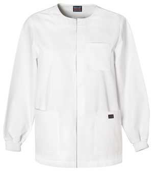 Cherokee Workwear WW Originals Men's Men's Snap Front Warm-Up Jacket White