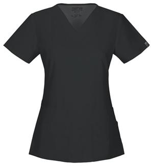 Cherokee Workwear WW Flex Women's V-Neck Top Black