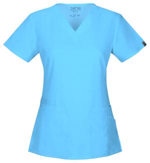 Cherokee Workwear WW Flex Women's V-Neck Top Blue