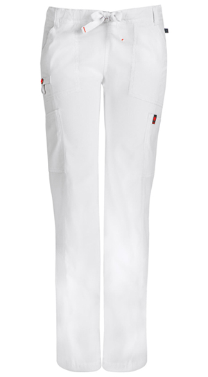 Code Happy Bliss Low Rise Straight Leg Drawstring Pant in White (46000ABT - WHCH)