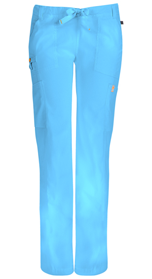 Code Happy Bliss Low Rise Straight Leg Drawstring Pant in Turquoise (46000AP - TQCH)