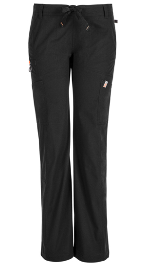 Code Happy Bliss Low Rise Straight Leg Drawstring Pant in Black (46000AT - BXCH)