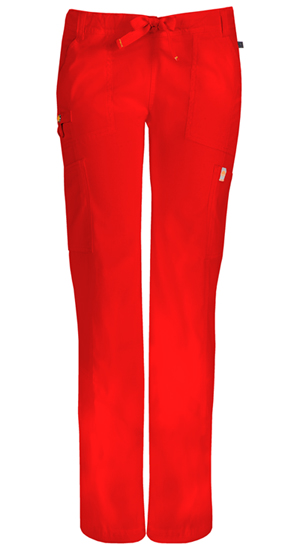 Code Happy Bliss Low Rise Straight Leg Drawstring Pant in Red (46000AT - RECH)