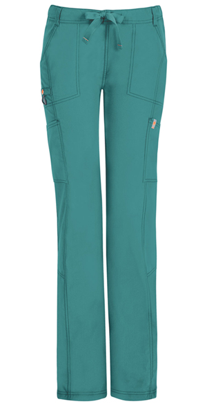 Code Happy Bliss Low Rise Straight Leg Drawstring Pant in Teal (46000AT - TLCH)