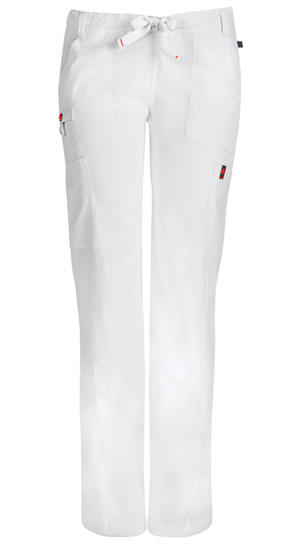 Code Happy Bliss Low Rise Straight Leg Drawstring Pant in White (46000AT - WHCH)