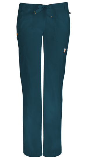 Code Happy Bliss Low Rise Straight Leg Drawstring Pant in Caribbean Blue (46000A - CACH)