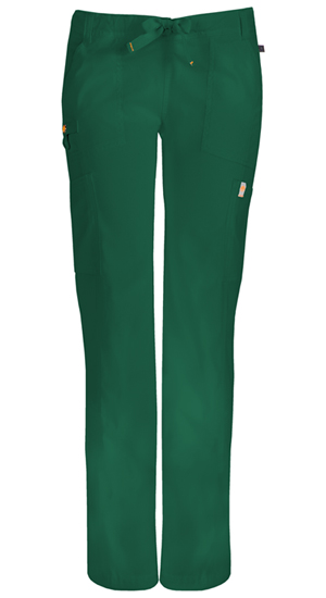 Code Happy Bliss Low Rise Straight Leg Drawstring Pant in Hunter Green (46000A - HNCH)